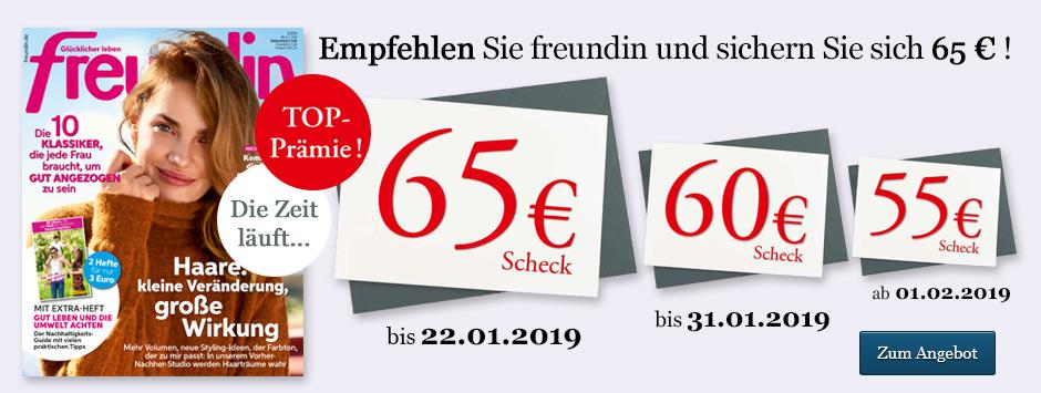 freundin Leser werben Leser Countdown - 65 € sichern!