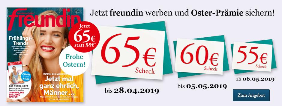 freundin Leser werben Leser Oster-Countdown - 65€ sichern!