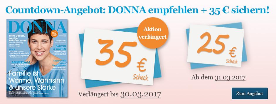 DONNA empfehlen + 35 € sichern