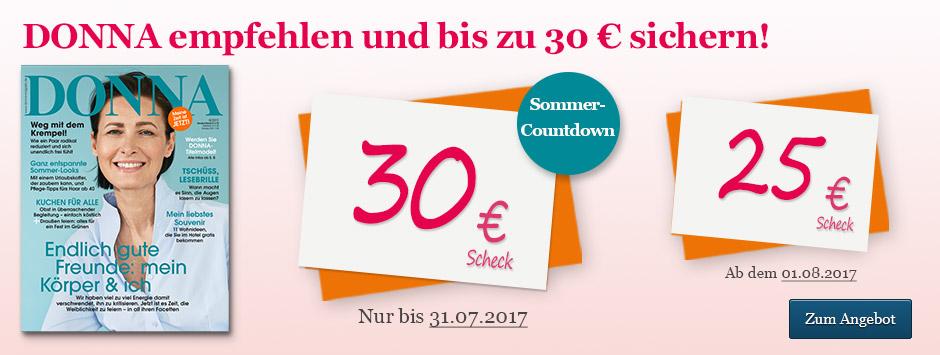 DONNA empfehlen und bis zu 30 € sichern!