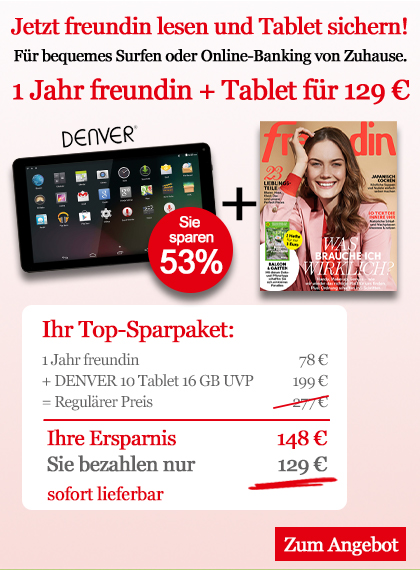 freundin Sparpaket Denver Tablet