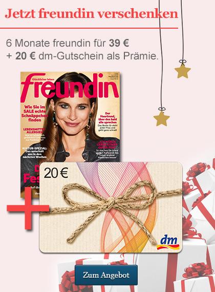 StickyAd freundin Weihnachten Halbjahres/-Geschenkabo