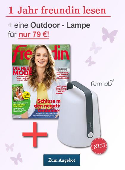 freundin Sticky Ad Jahresabo Outdoorlampe