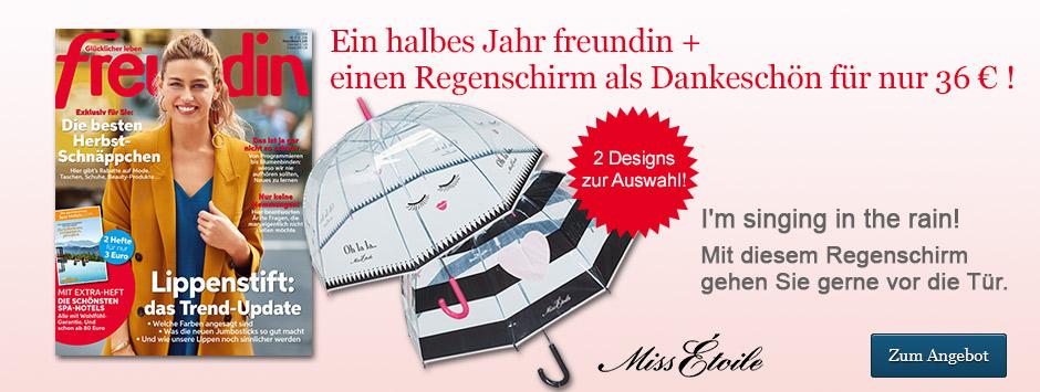 freundin Halbjahresabo + Regenschirm von Miss Etoile