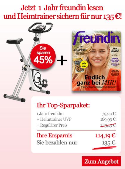 freundin Sparpaket - 1 Jahr freundin + Heimtrainer für nur 135 €