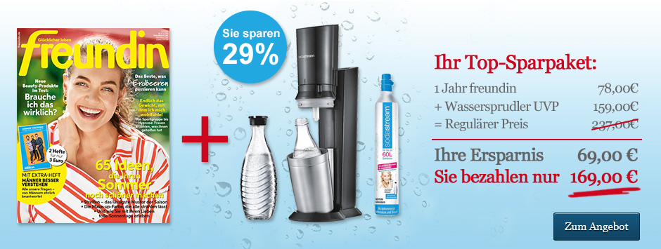 freundin Top-Sparpaket: Sodastream Crystal