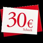30 € Verrechnungsscheck.