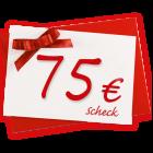 75 € Verrechnungsscheck