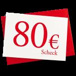 Verrechnungsscheck 80 EUR