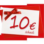 10 € Verrechnungsscheck